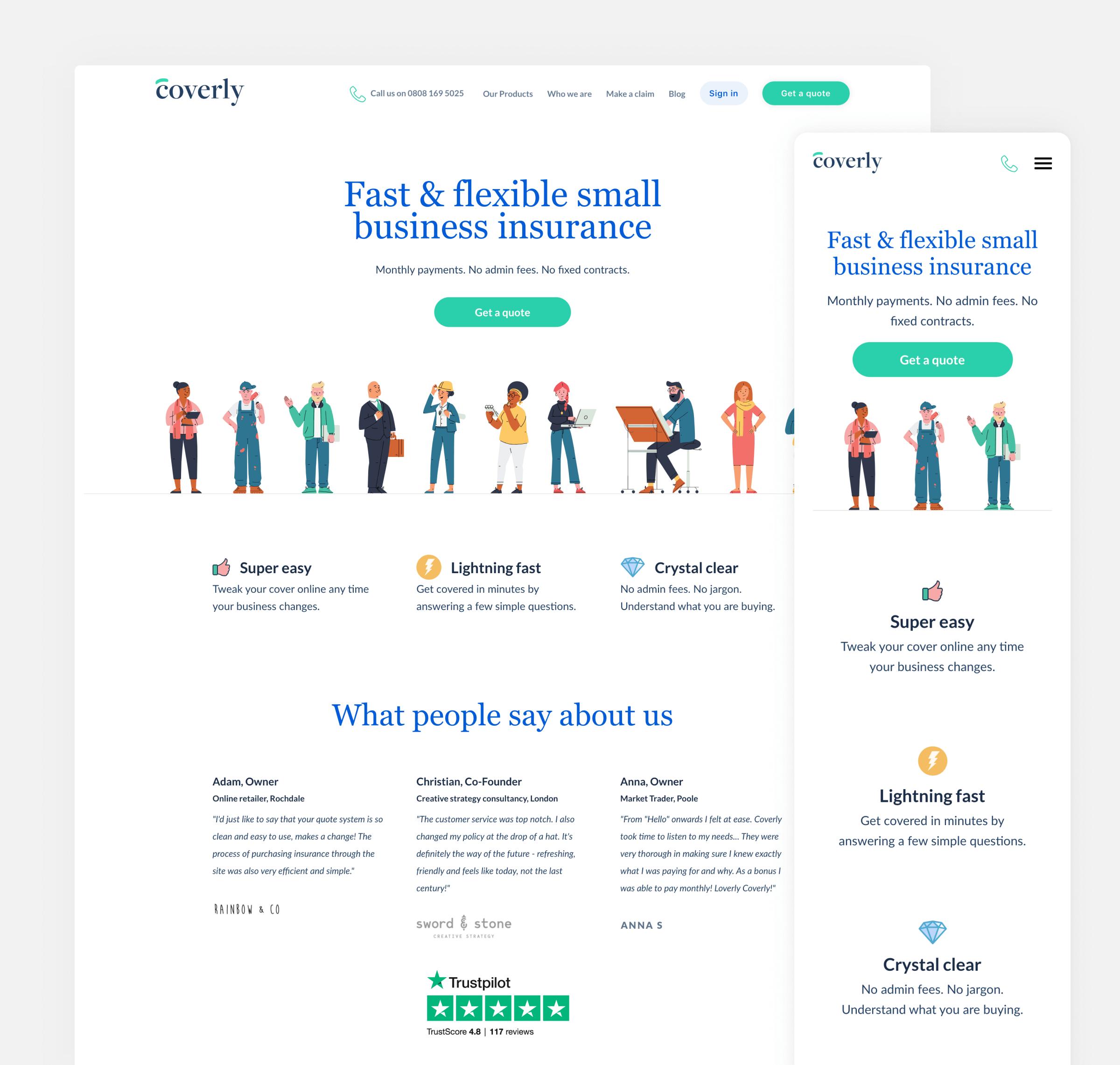 Full homepage – screenshot small