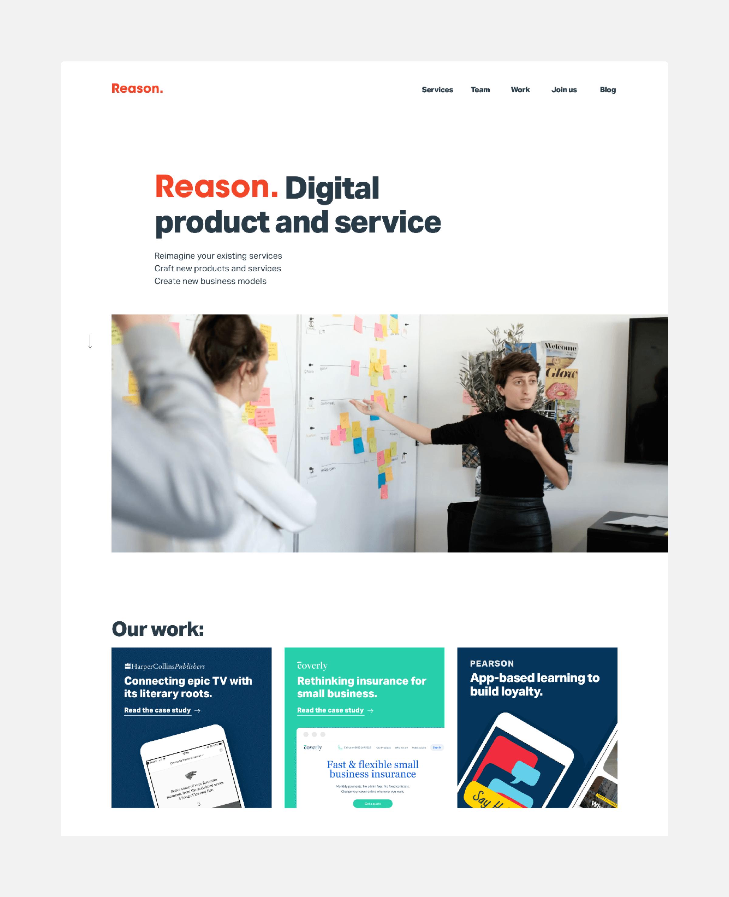 Reason Desktop Homepage